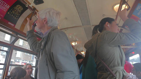 some scenes in a mebourne bus shuttle Stock Video Footage