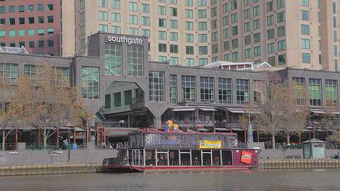 wide shot of southgate across the yarra river Footage
