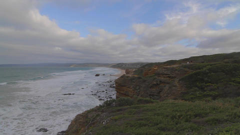 a pan off the coast of melbourne - blue skies Stock Video Footage