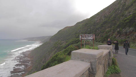 pan of the great ocean road Stock Video Footage