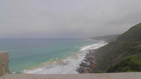 pan of the great ocean road Footage