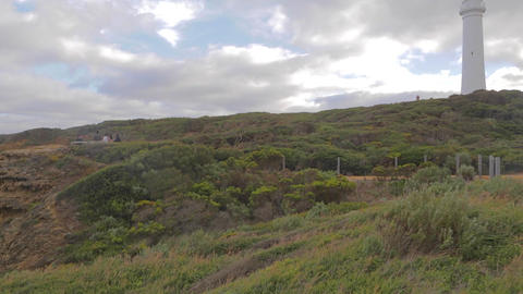 2 shots - pan and tilt of Cape Otway lightstation Footage