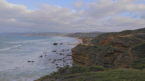 pan the of Cape Otway coast Footage