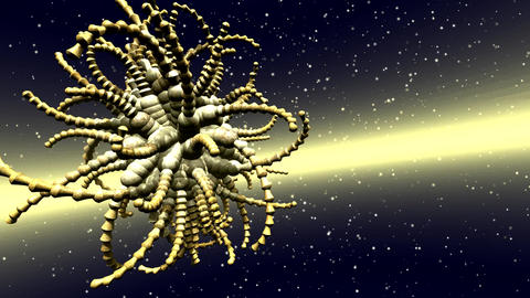 Fractal Structures Animation Stock Video Footage