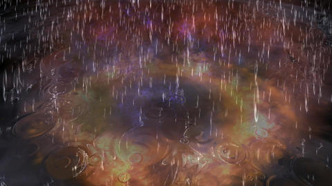 Surreal Rain Animation stock footage