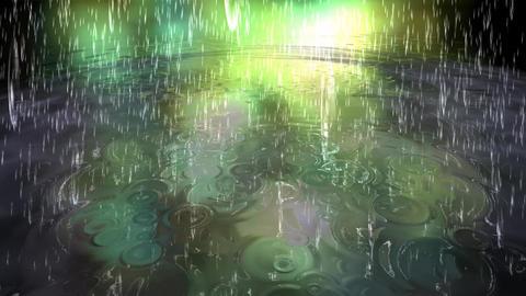 Surreal Rain Animation Stock Video Footage