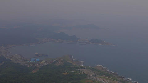 view of jiufens oceanfront from keelung mountain Footage
