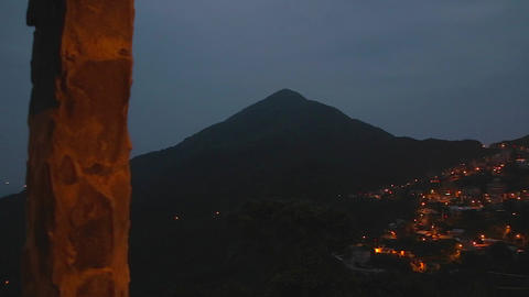 evening - pan from jiufen to coast Footage