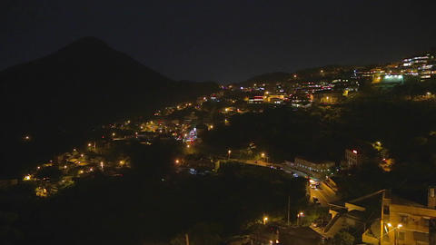 evening - jiufen and keelung mountain Footage