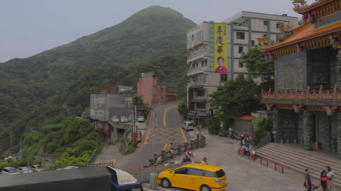 pan from Fushan temple Footage