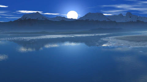 Sunrise reflected in water Animation