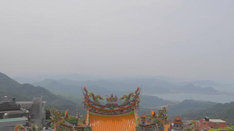 left to right pan - fushan temple Footage