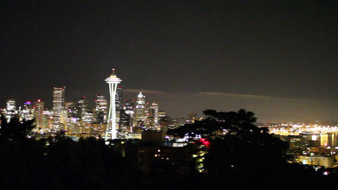SEATTLE,UNITED STATES - CIRCA May 2012 :evening pa Stock Video Footage