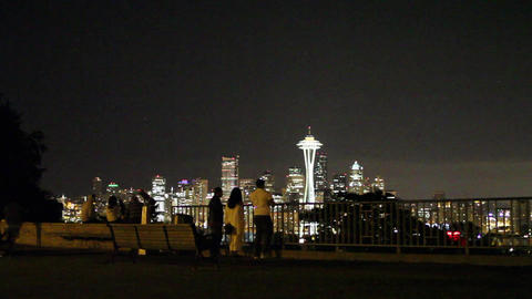 SEATTLE,UNITED STATES - CIRCA May 2012 :evening do Stock Video Footage