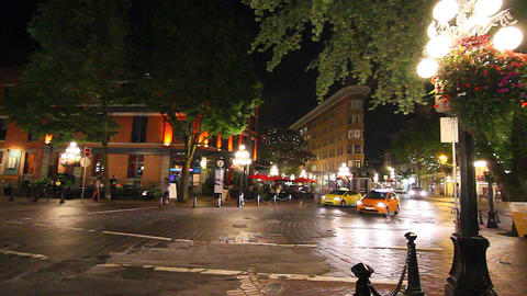 evening in gastown - Alexander st intersection Footage