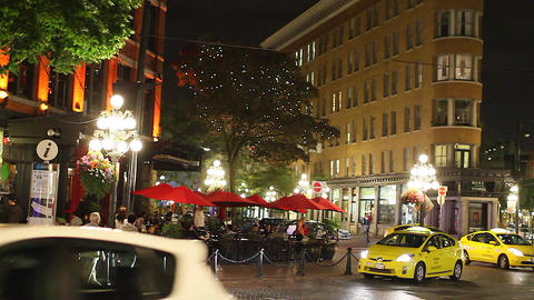 nightlife in gastown Stock Video Footage