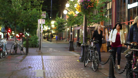 gastown nightlife - ladies on the town Footage
