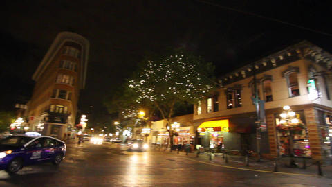 nightlife in gastown - pan alexander st Footage