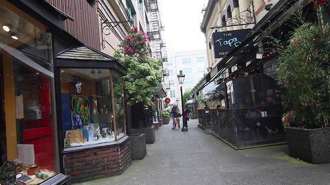 trounce alley - people walking Footage