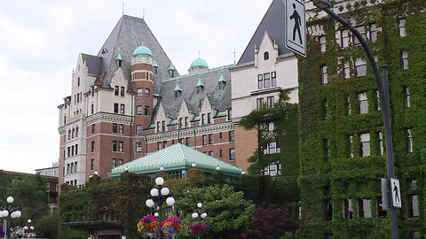 dolly shot - empress hotel Footage