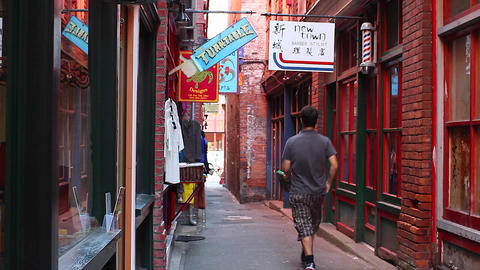 2 Angles - Fan Tan Alley stock footage