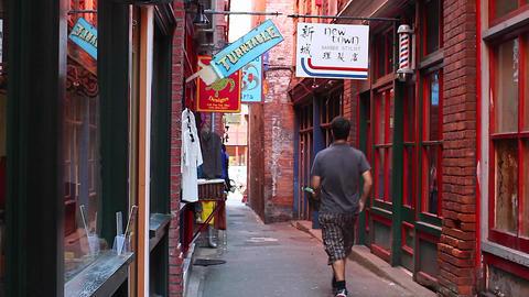 2 Angles - Fan Tan Alley stock footage