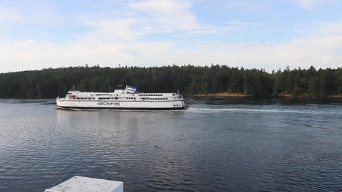 View Of Bc Ferry Leaving Victoria stock footage