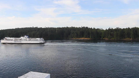 view of bc ferry leaving victoria Stock Video Footage
