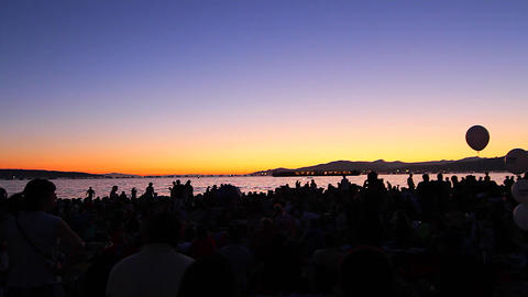 post sunset -english bay before fireworks Footage