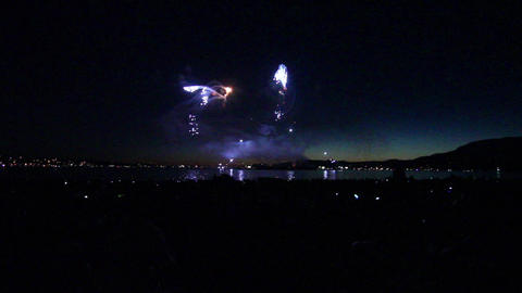 51 seconds - wide view english bay fireworks Live Action