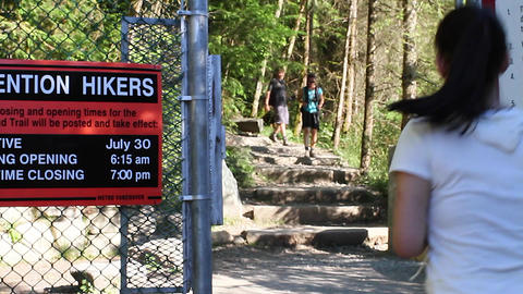 entrance of the grouse grind hike Live Action