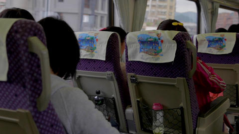 Taiwanese passengers take the train to Yilan Stock Video Footage