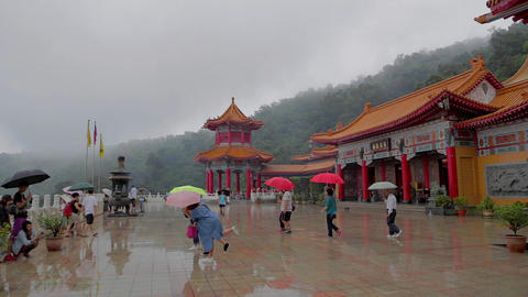 pan at sanqing temple Footage