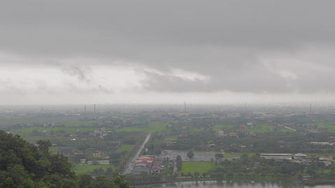interesting sunny versus cloudly yilan skyline Stock Video Footage