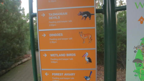 A Of The Cleland National Park Animal Map stock footage