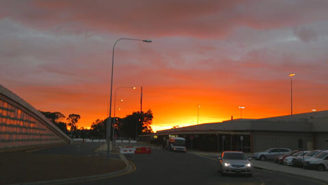 a vivid early morning sunrise at the adelaide airp Stock Video Footage