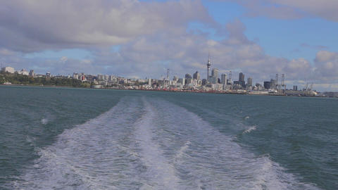 georgeous day - view of auckland downtown includin Footage