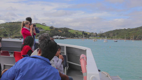 Boat passengers get georgeous first view of beauti Footage