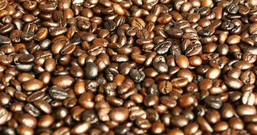 4k coffee beans closeup,drinks caffeine food raw material,delicious dishes bean Footage