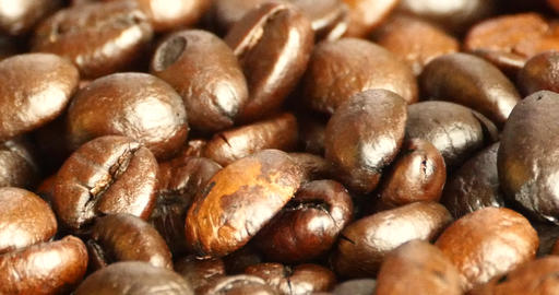 4k coffee beans closeup,drinks caffeine food raw... Stock Video Footage