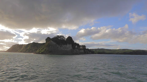 A view returning back from Waiheke Island on the b Stock Video Footage