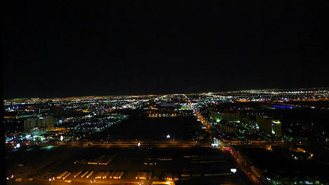 evening aerial view of las vegas from a penthouse Footage