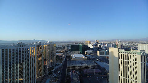 daytime - penthouse view of mgm grand and surround Footage
