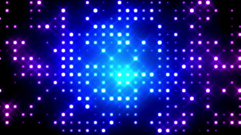 Blue Glittering Light Grid Stock Video Footage