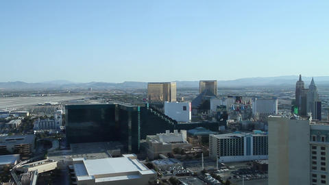 daytime - penthouse view of mgm grand and surround Stock Video Footage