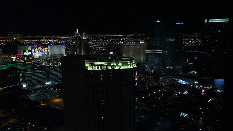 penthouse evening view - mgm grand, luxor and exca Footage