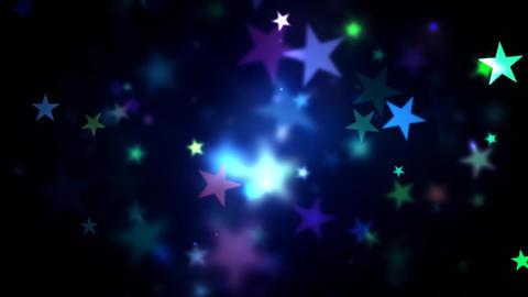 Colorful Shining Stars Animation