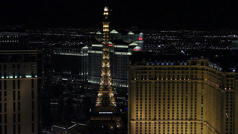 medium penthouse view evening - paris and wynn hot Stock Video Footage