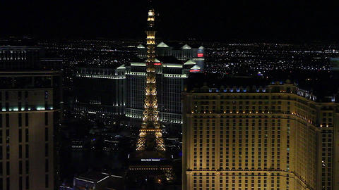 medium penthouse view evening - paris and wynn hot Footage