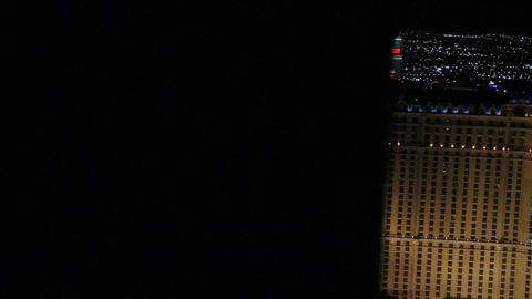 dolly shot penthouse view evening - paris and caes Stock Video Footage